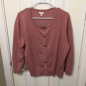 J. Jill Sweaters - J Jill Knit Cardigan Sweater Mauve Women's XL
